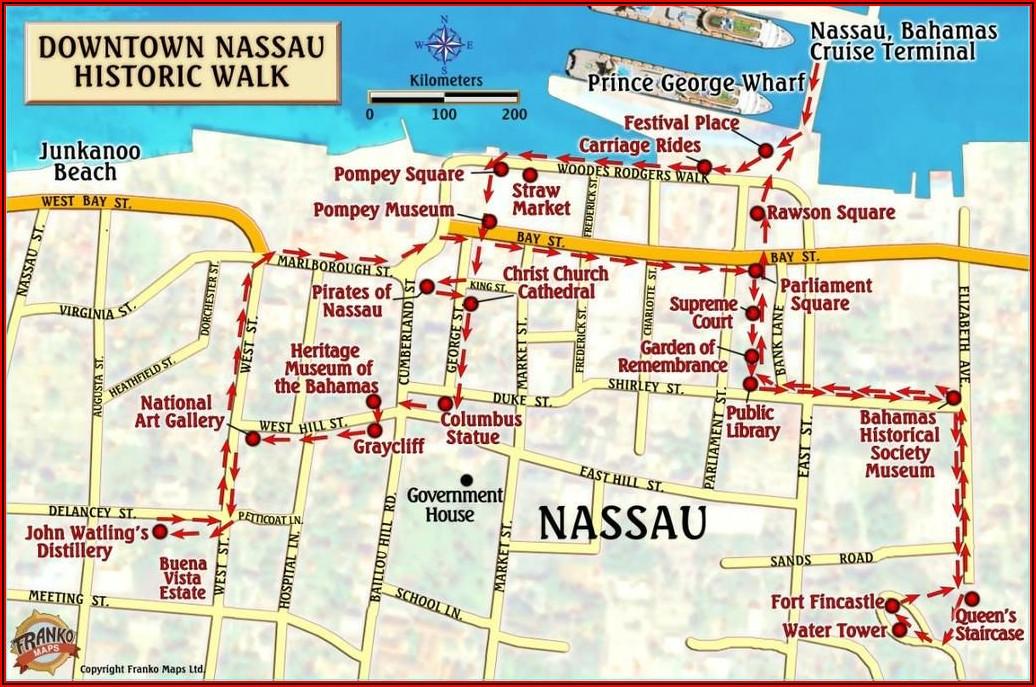 Map Of Nassau Bahamas Cruise Ship Port