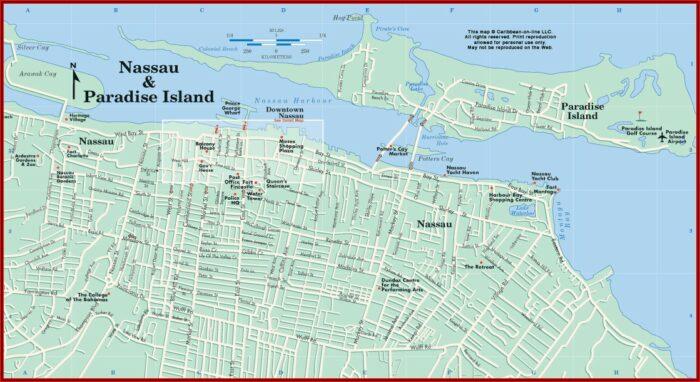 Map Of Nassau Bahamas Hotels