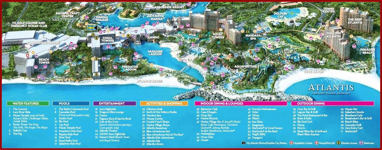 Map Of Nassau Bahamas Resorts
