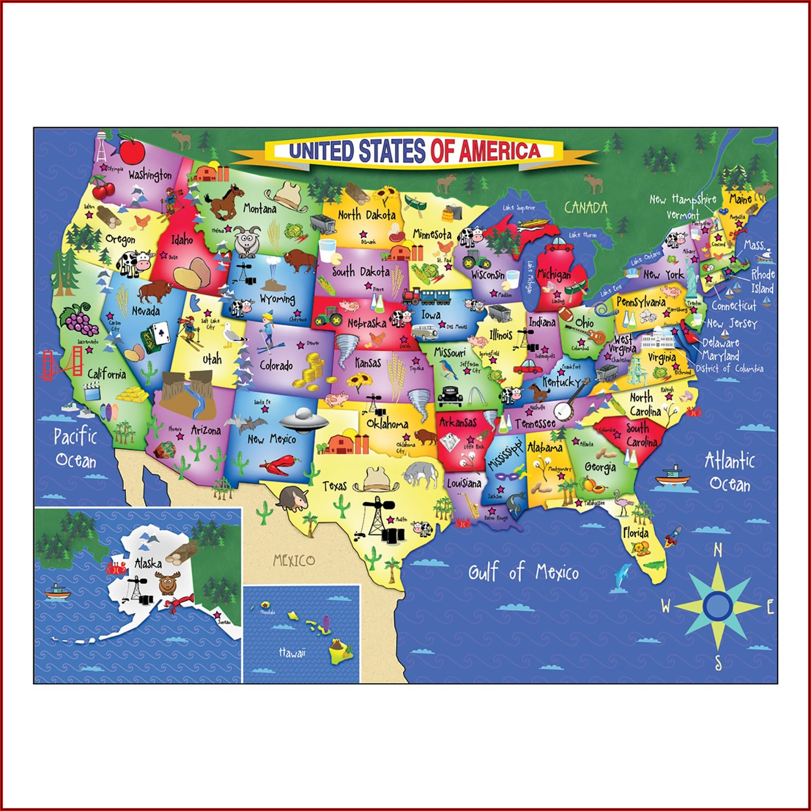 Map Puzzles Usa