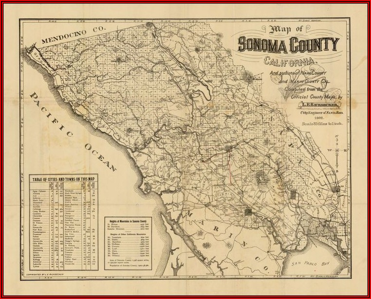 Map Sonoma County Ca