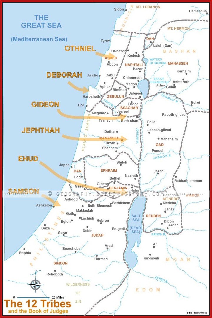 Maps Of The Bible Old Testament