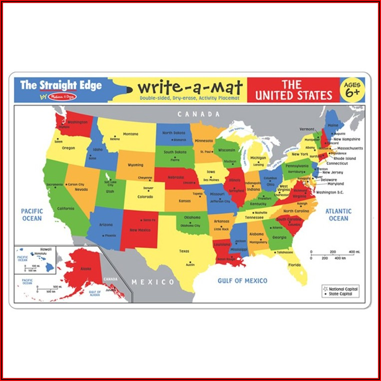 Melissa And Doug World Map Placemat
