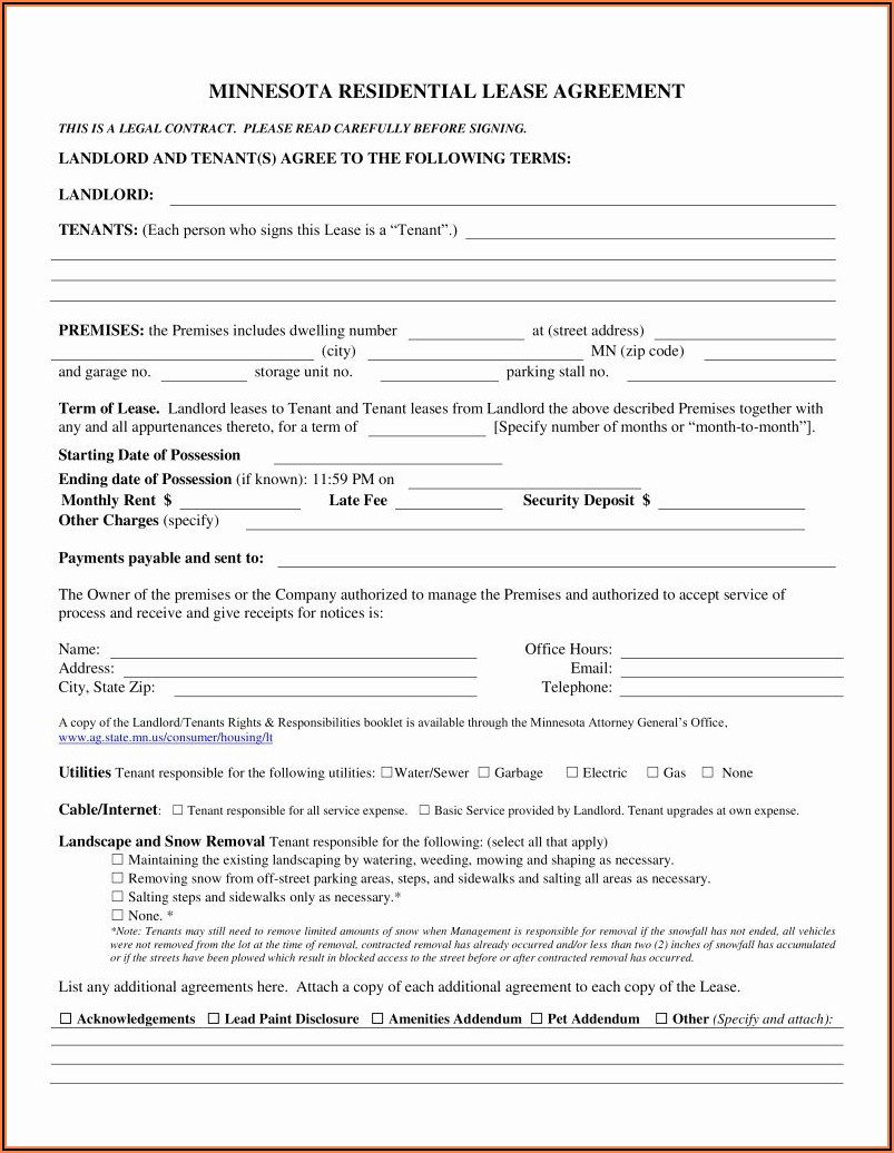 Minnesota Association Of Realtors Purchase Agreement Form
