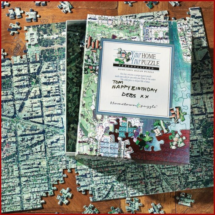 National Geographic Personalized Map Puzzle