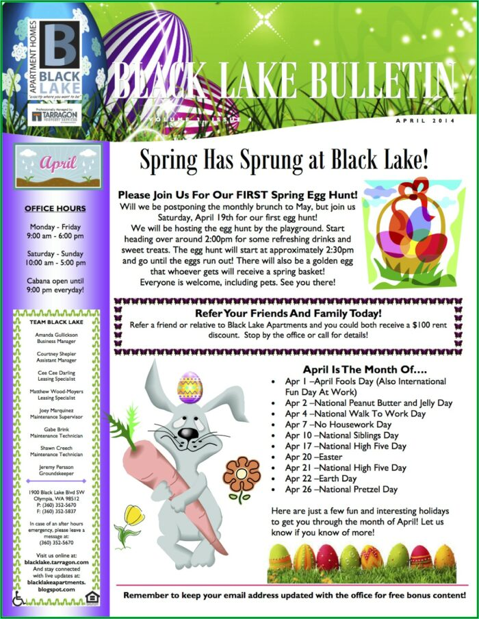 Nursing Home Newsletter Templates Free
