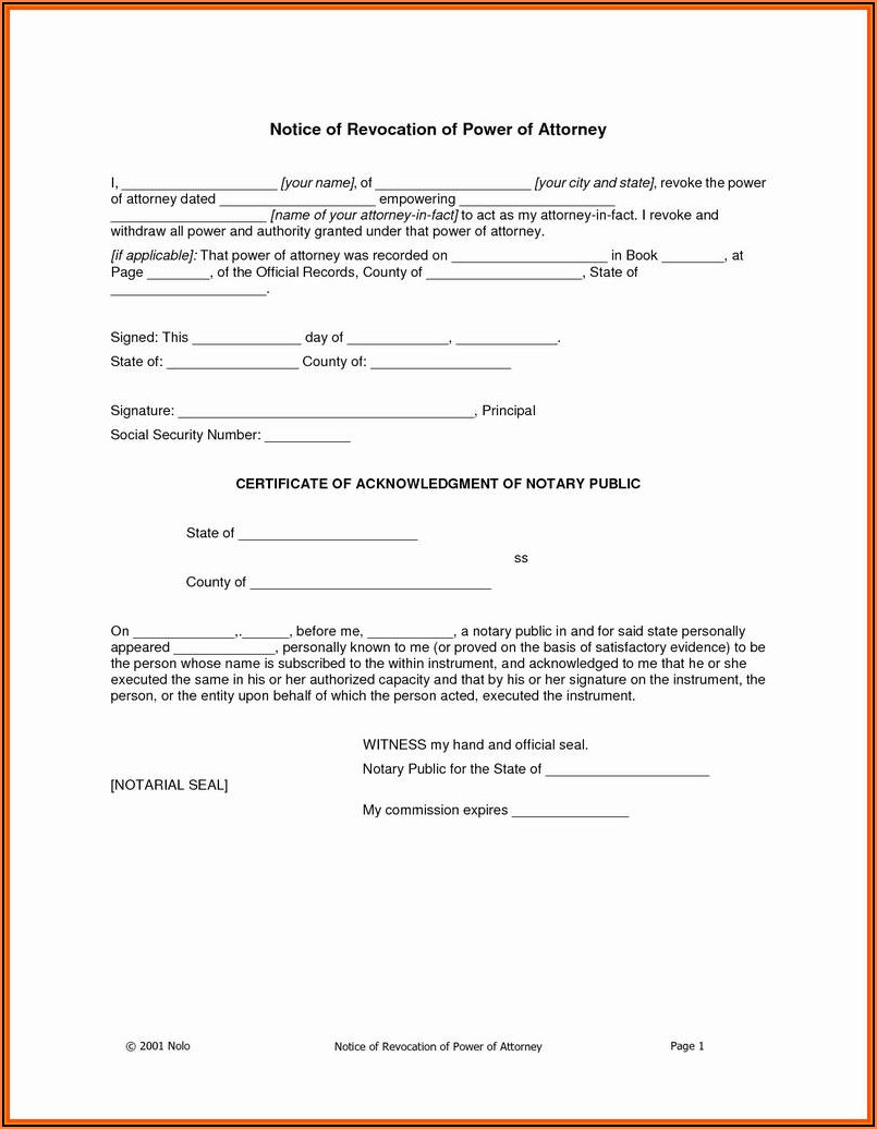 Nys Durable Power Of Attorney Form 2017 Free