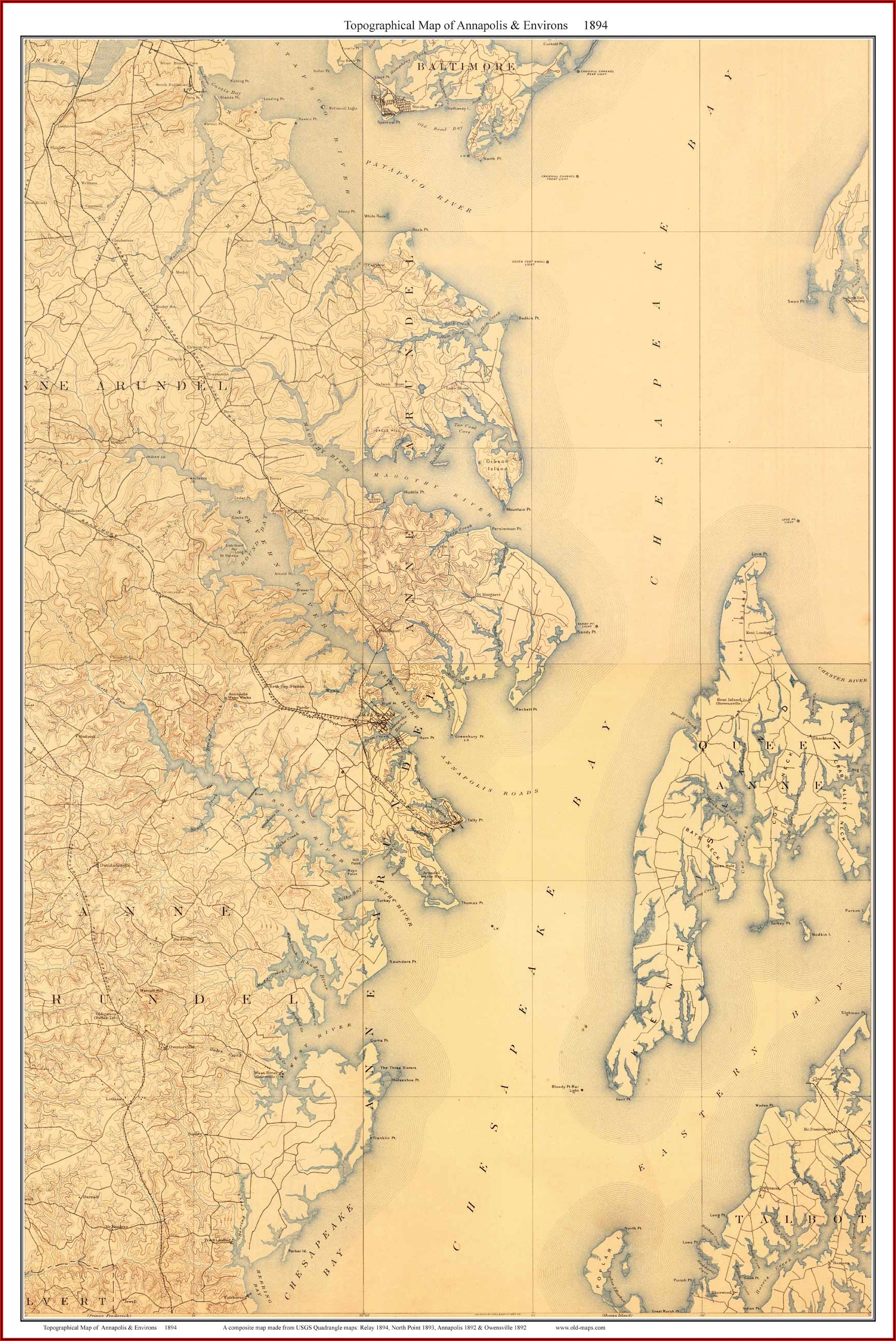 Old Maps Of Chesapeake Bay