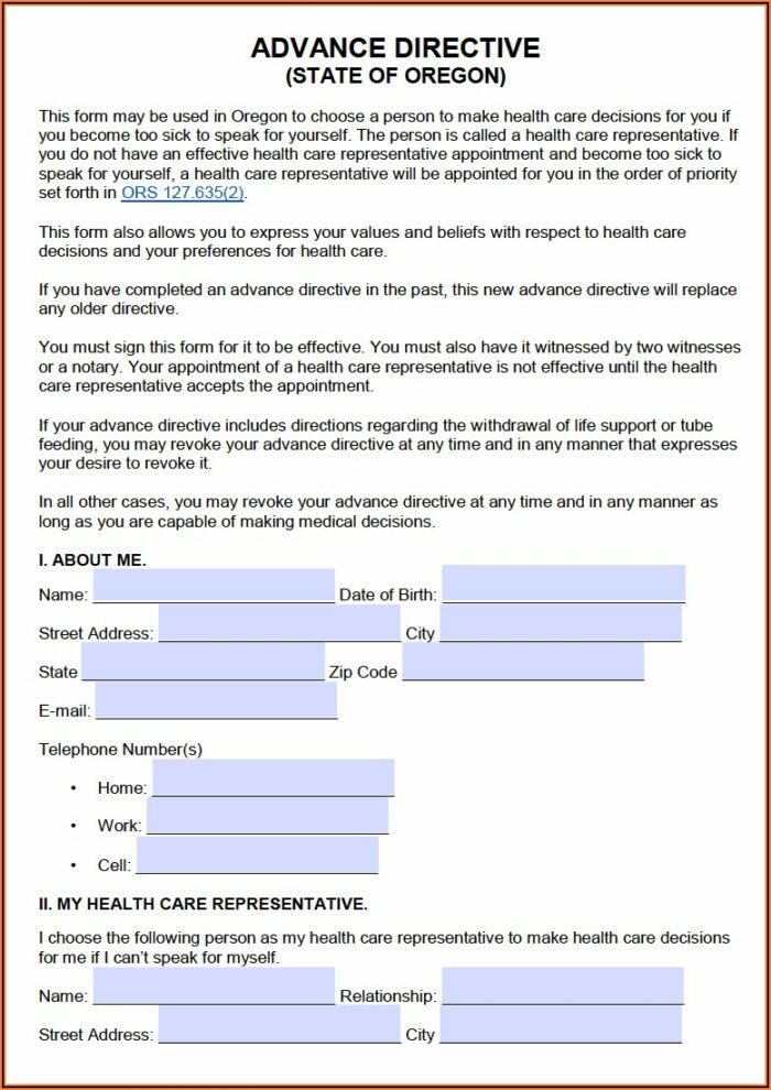 Oregon Power Of Attorney Forms