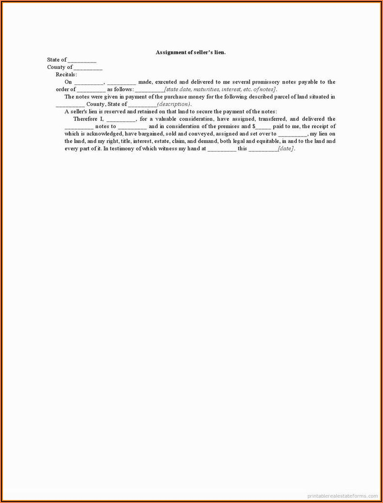 Preliminary Lien Notice Form