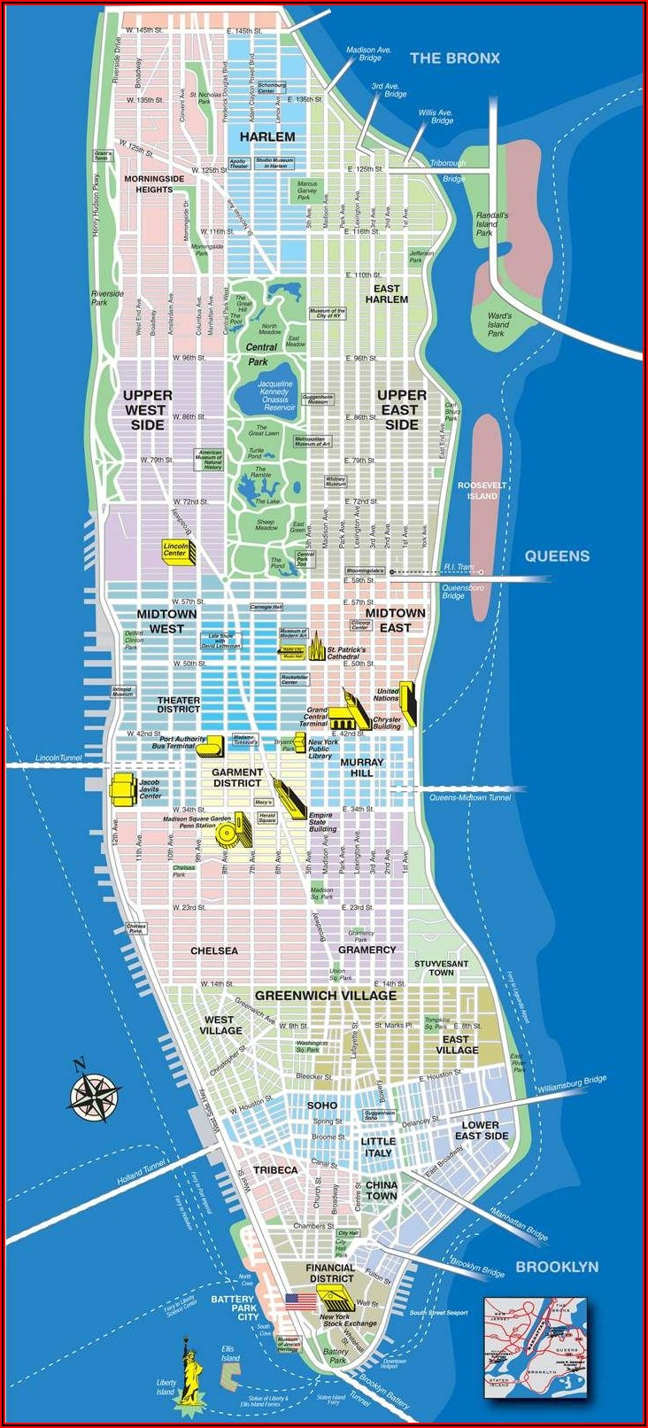 Printable Detailed Map Of Nyc