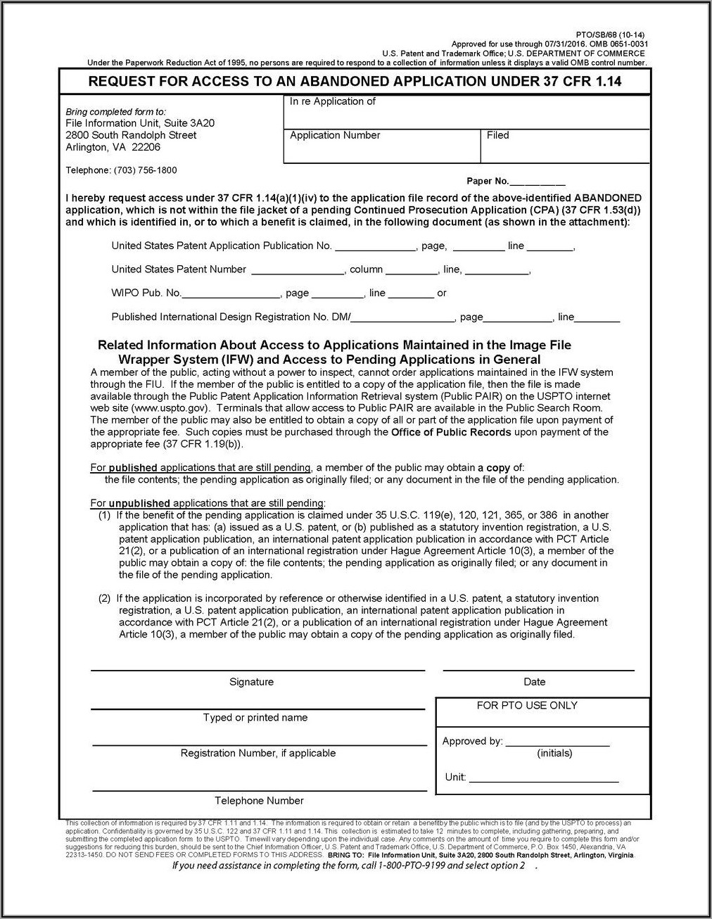 Provisional Patent Application Forms