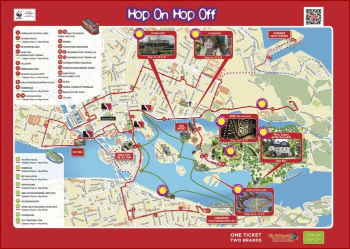 Quebec City Hop On Hop Off Tour Map