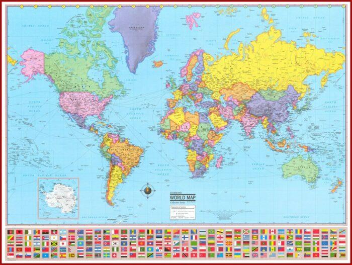Rand Mcnally Signature United States Wall Map