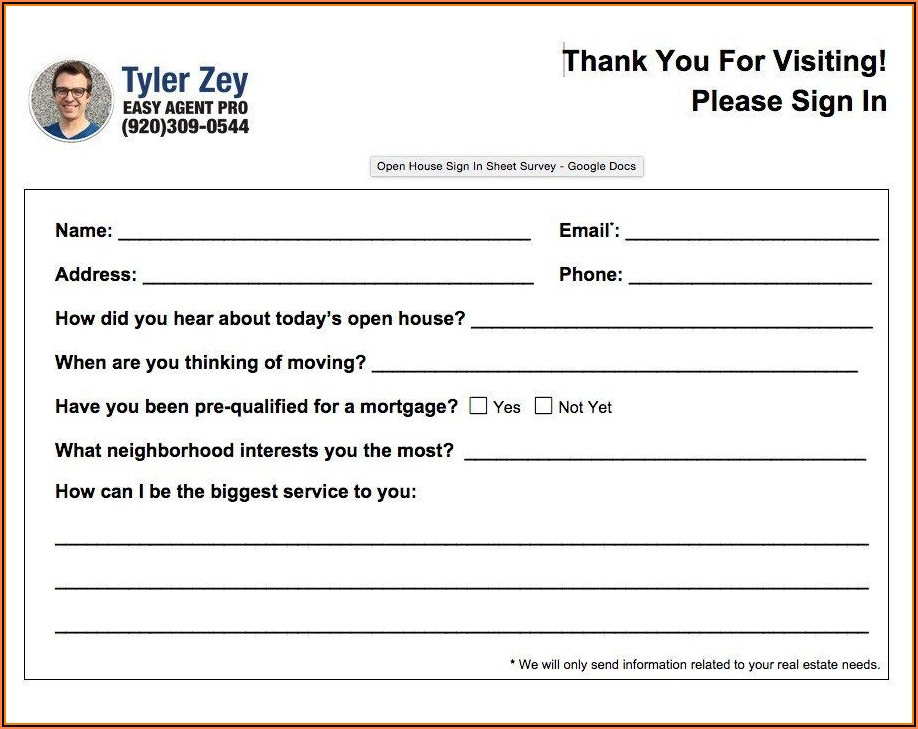 Real Estate Feedback Form Template