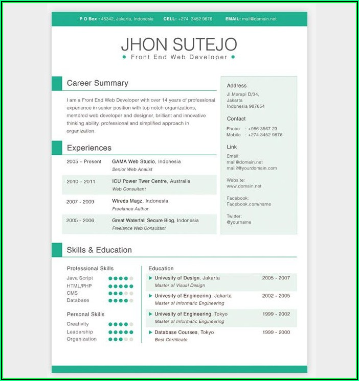Resume Builder Website Template Free Download