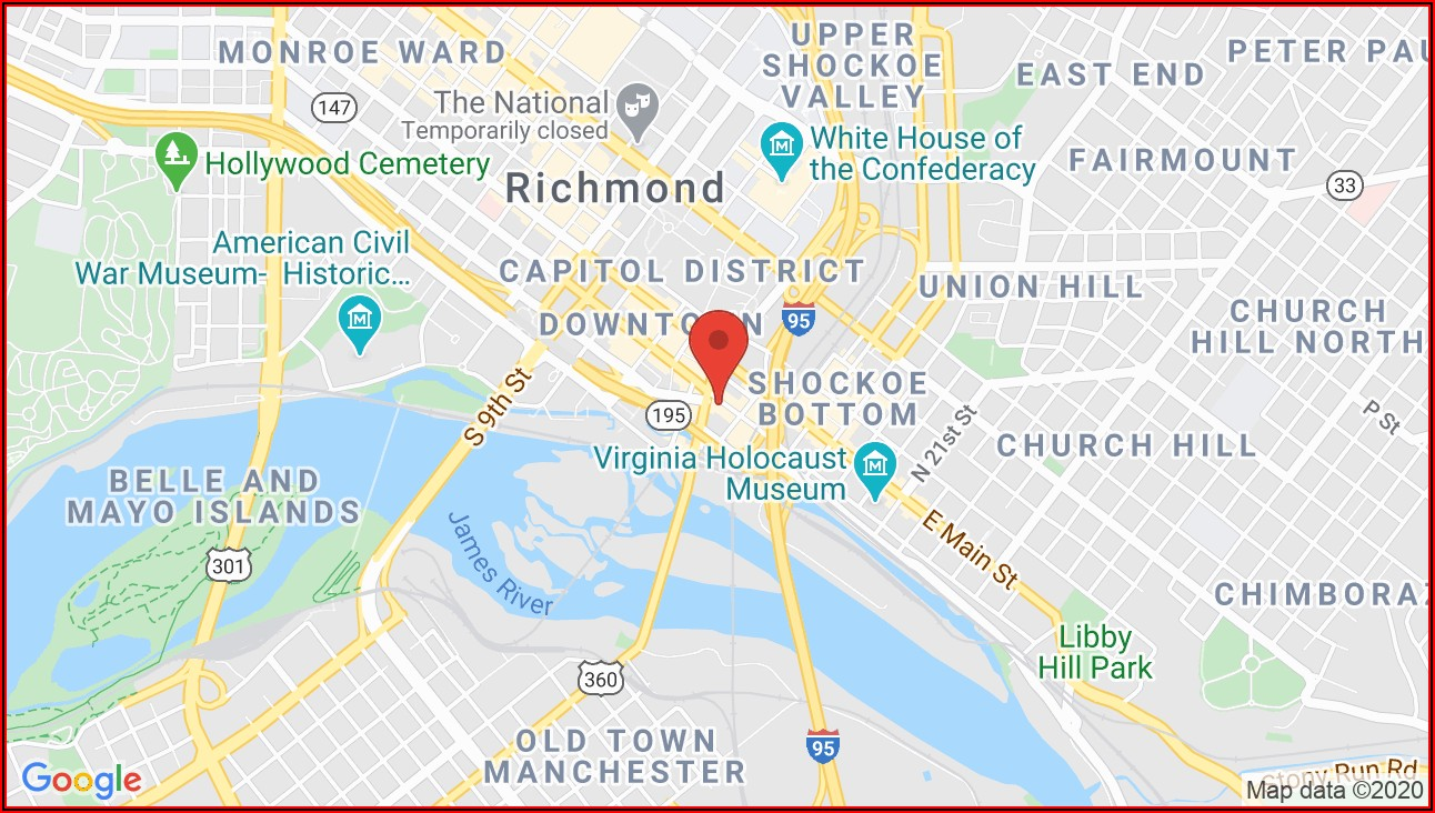 Richmond Va Street Map