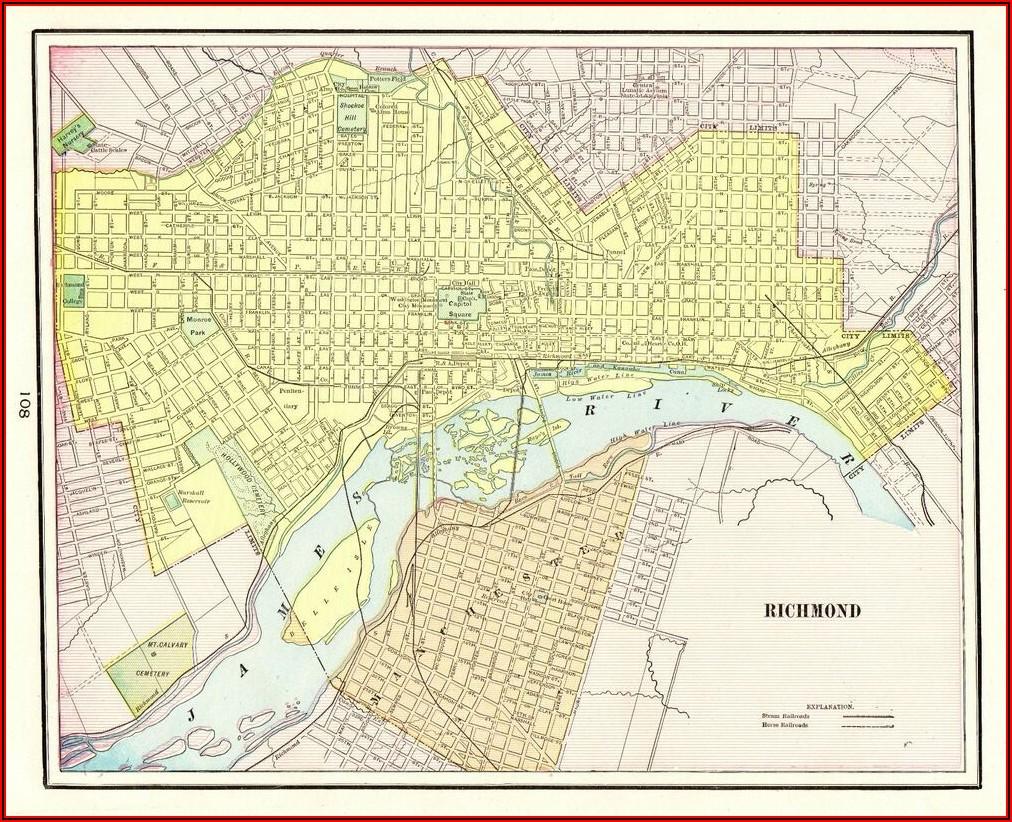 Richmond Virginia Street Map