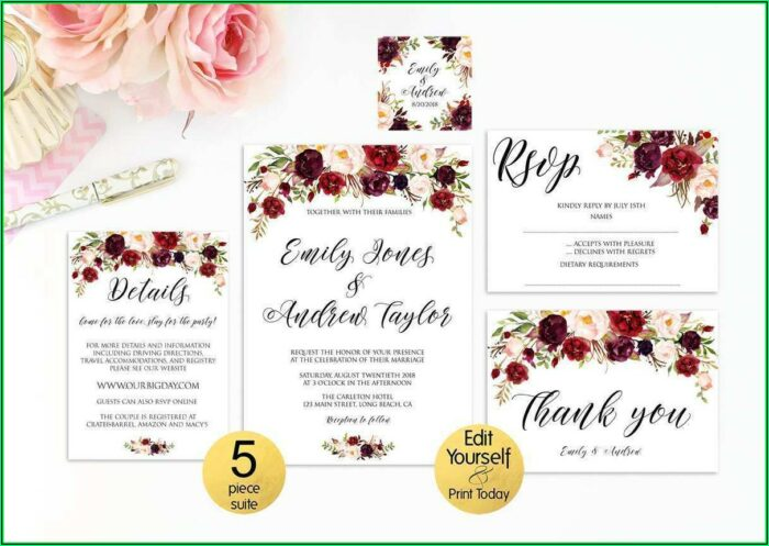 Rsvp Card Template 8 Per Page