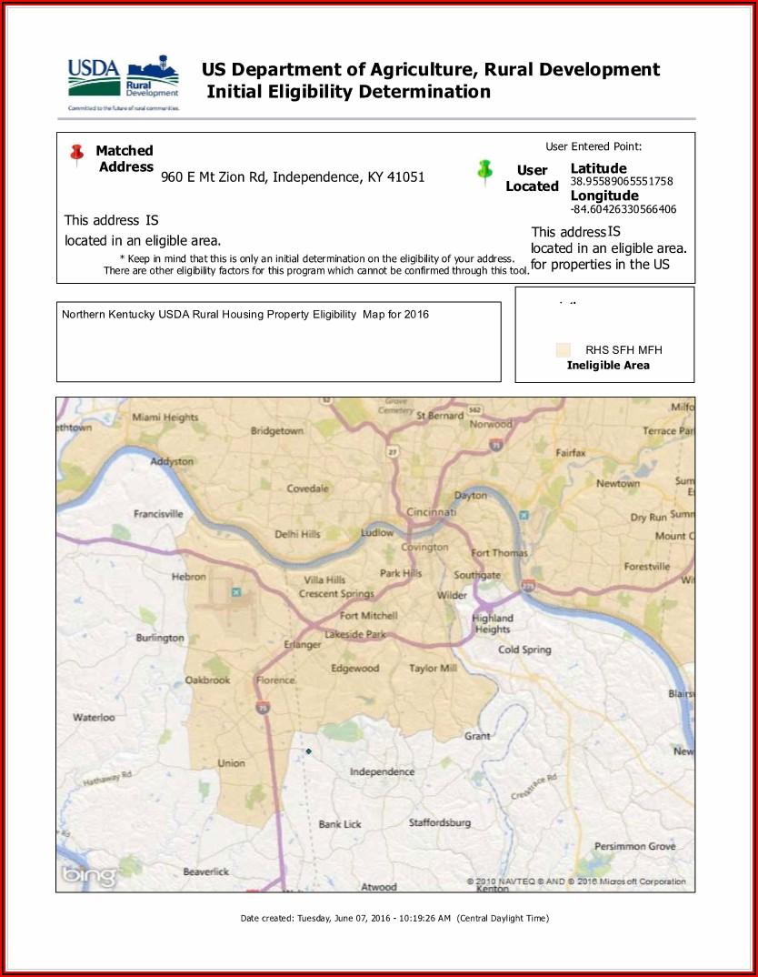 Rural Housing Loan Ky Map