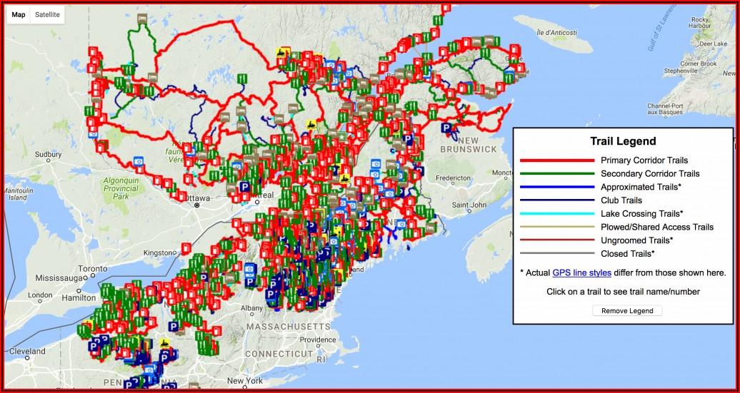 Snowmobile Gps Trail Maps Michigan