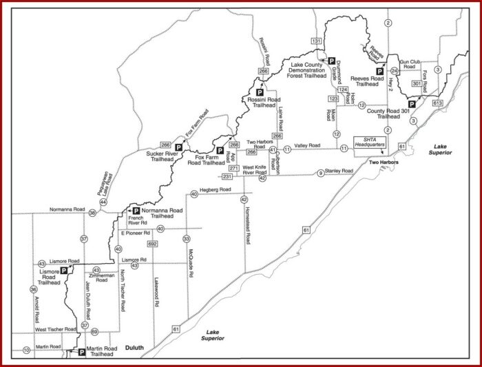Snowmobile Trail Map Two Harbors Mn