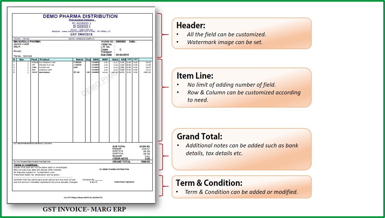 Software Invoice Format