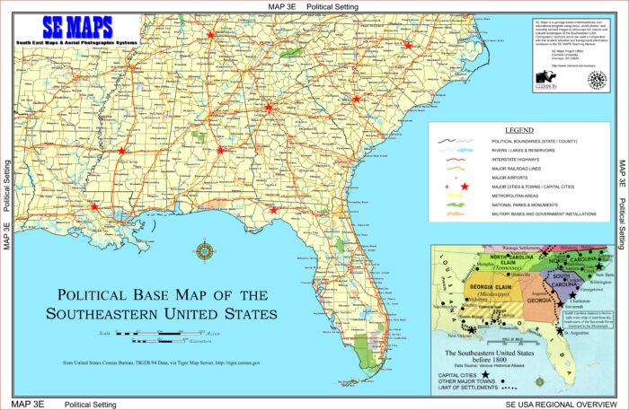 Southeast Us Map With Interstates