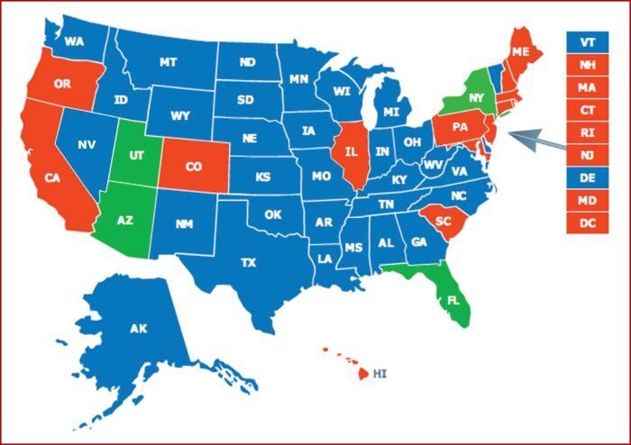 States That Honor Iowa Permit To Carry Map
