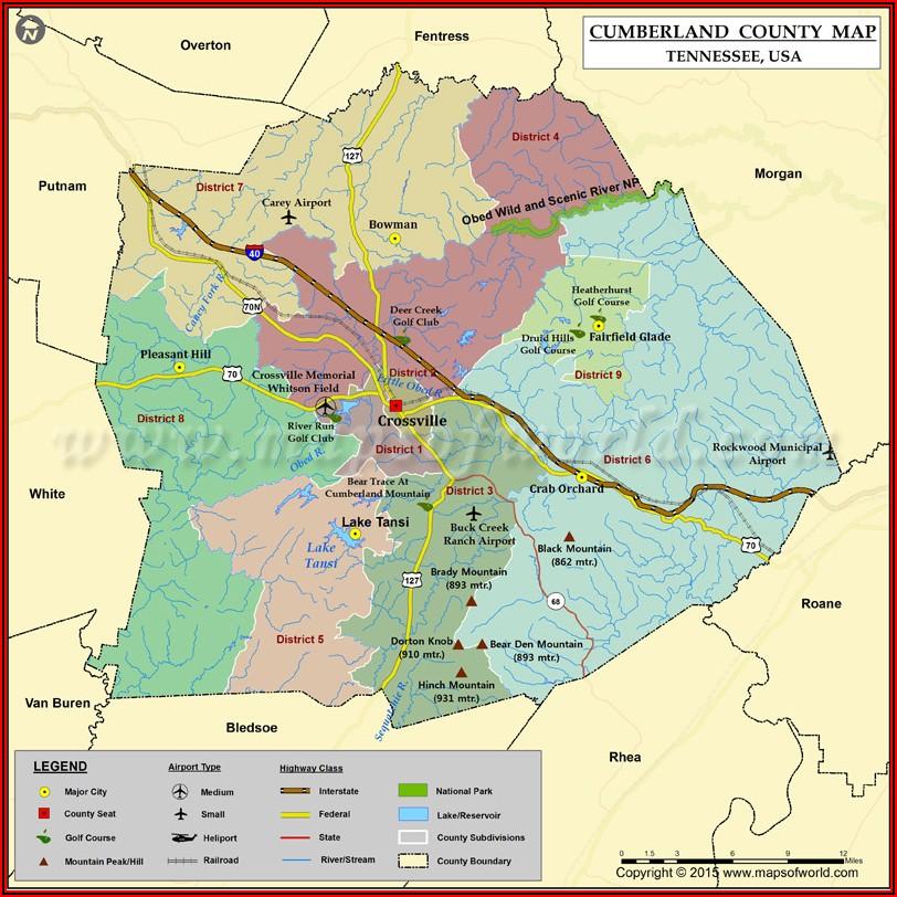 Topo Map Maury County Tn
