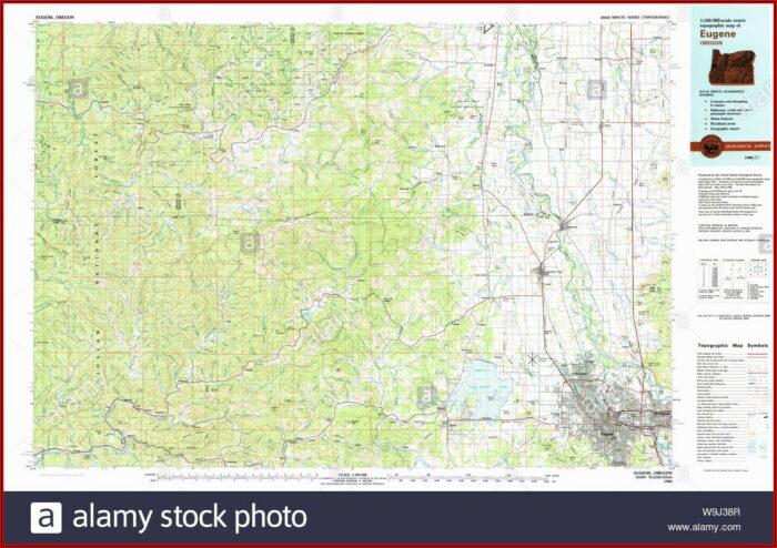 Topographic Map Eugene Oregon