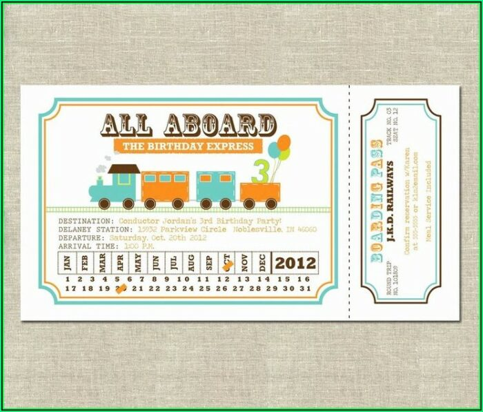 Train Ticket Template Free Download