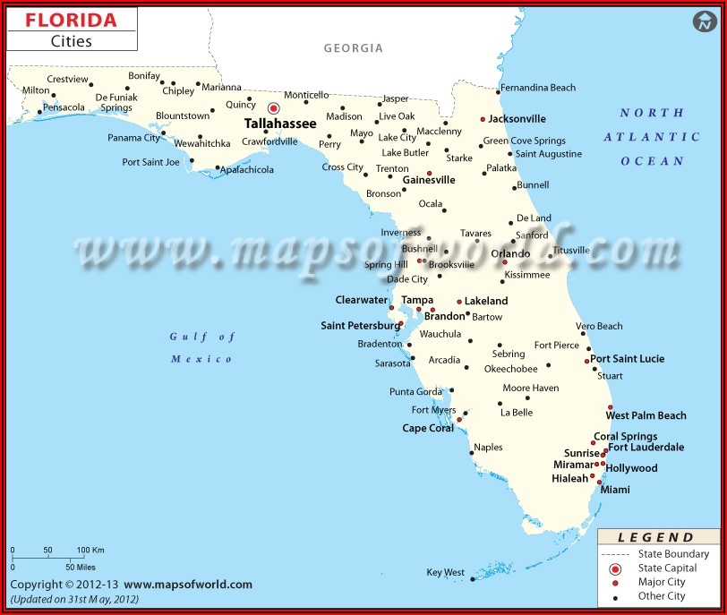 Travel Map Of Central Florida