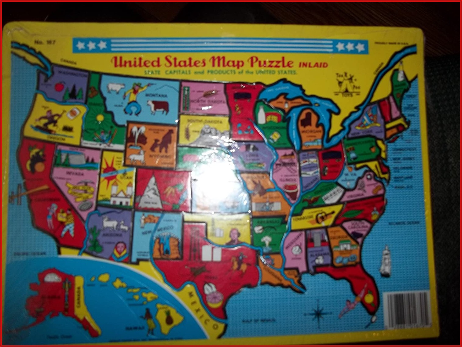 United States Map Puzzle Amazon