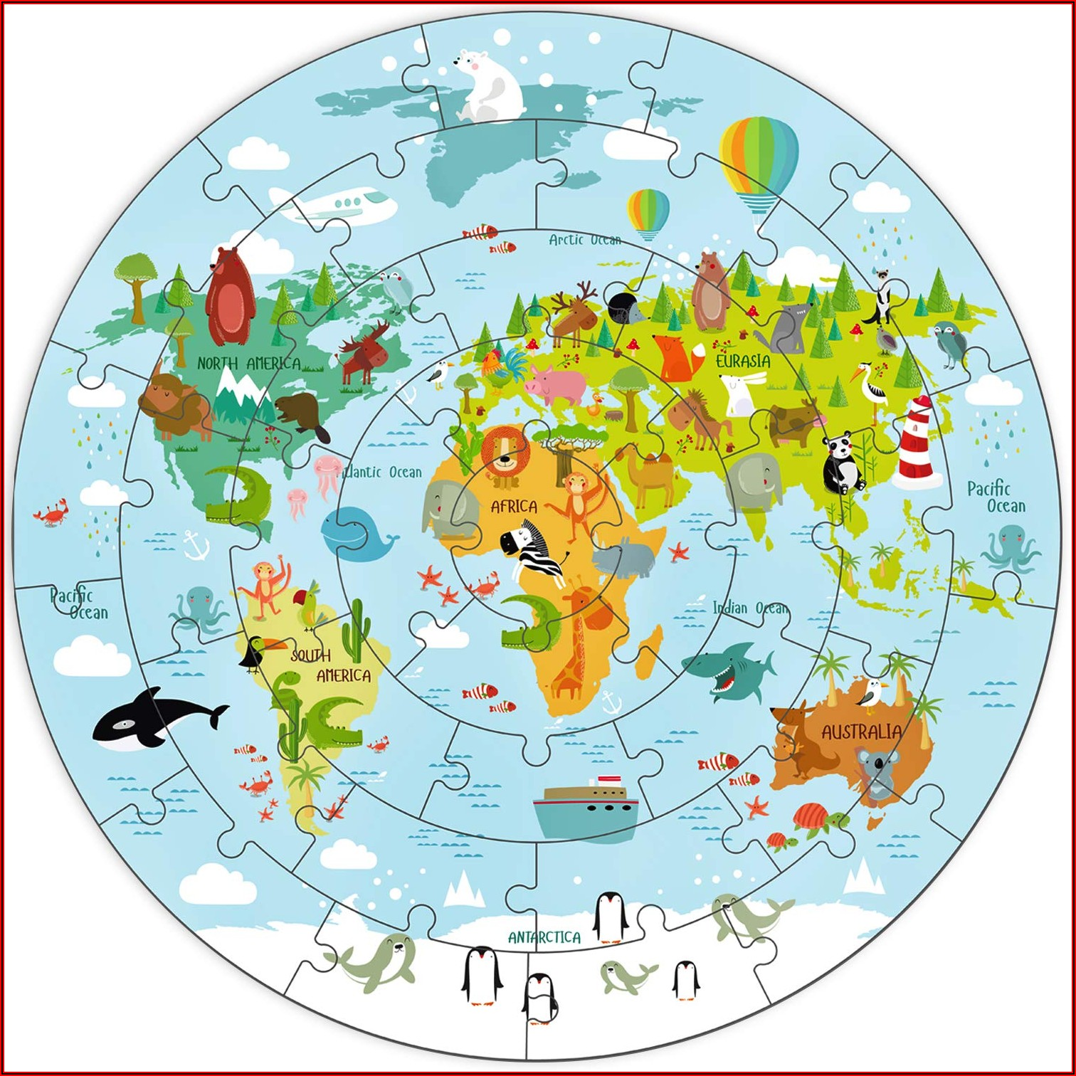 United States Map Puzzle For Toddlers
