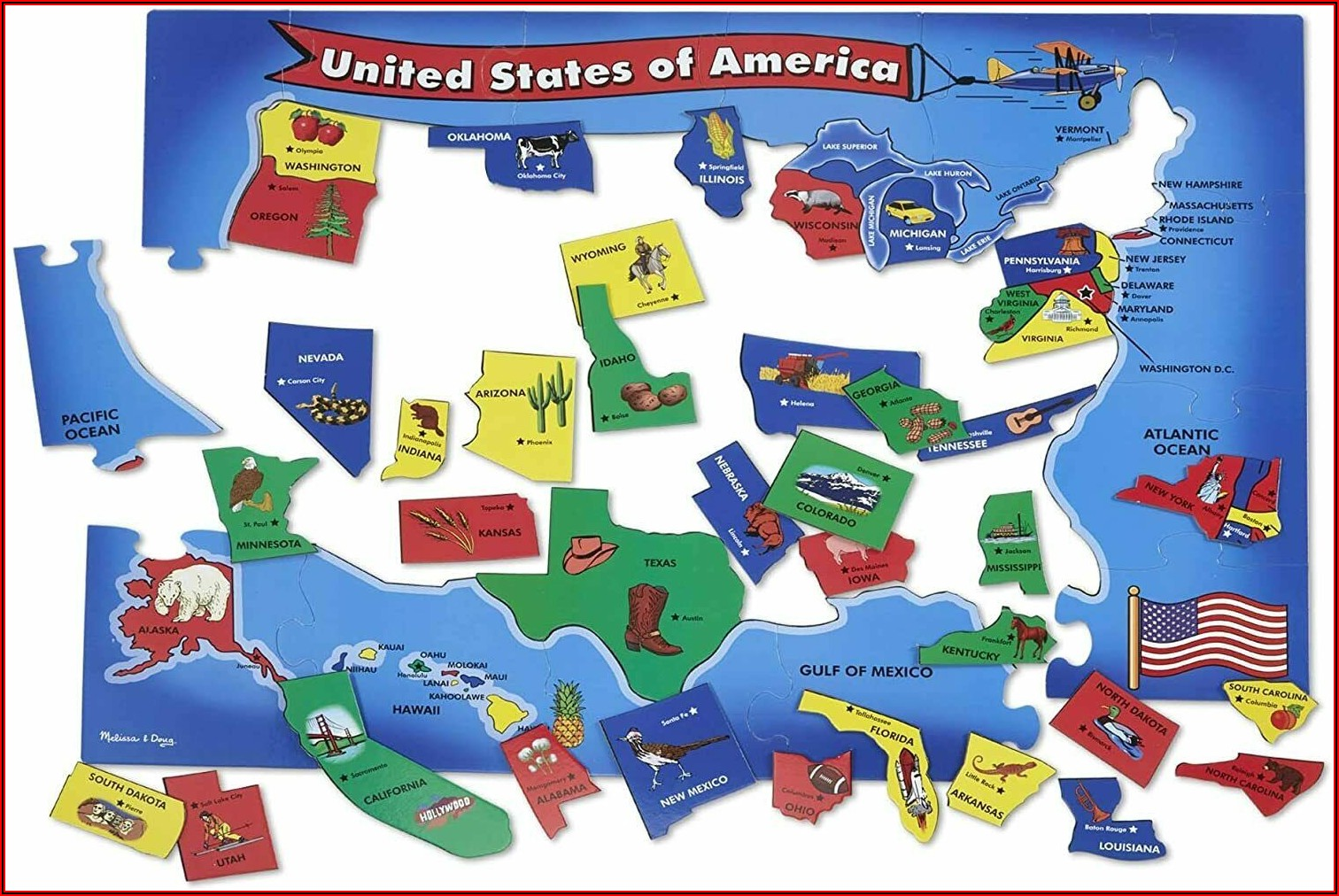 United States Talking Map Puzzle