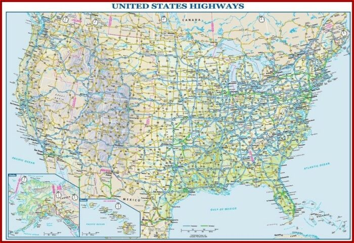 Us Map Image With Interstates