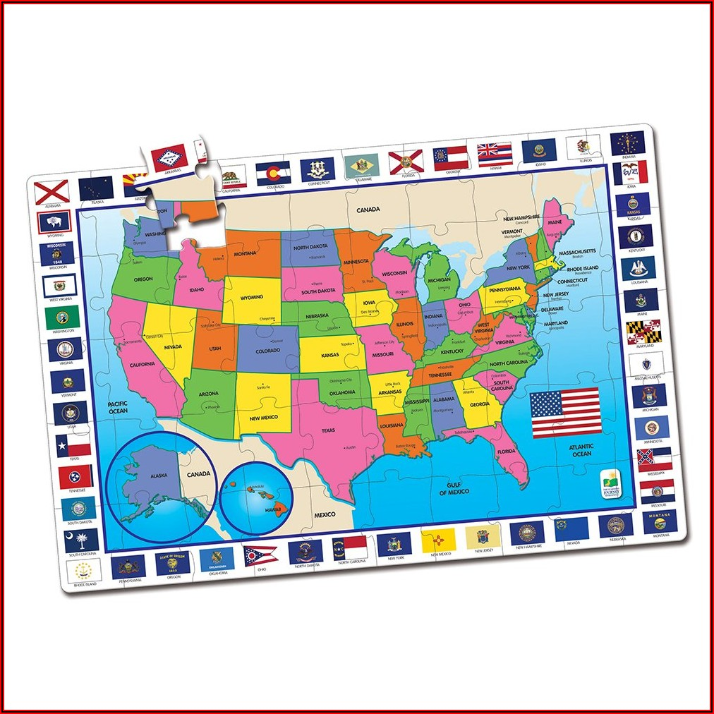Usa Map Puzzles Online