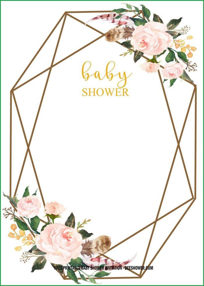 Vintage Baby Shower Invitation Templates Free