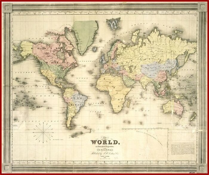 Vintage Map Posters For Sale