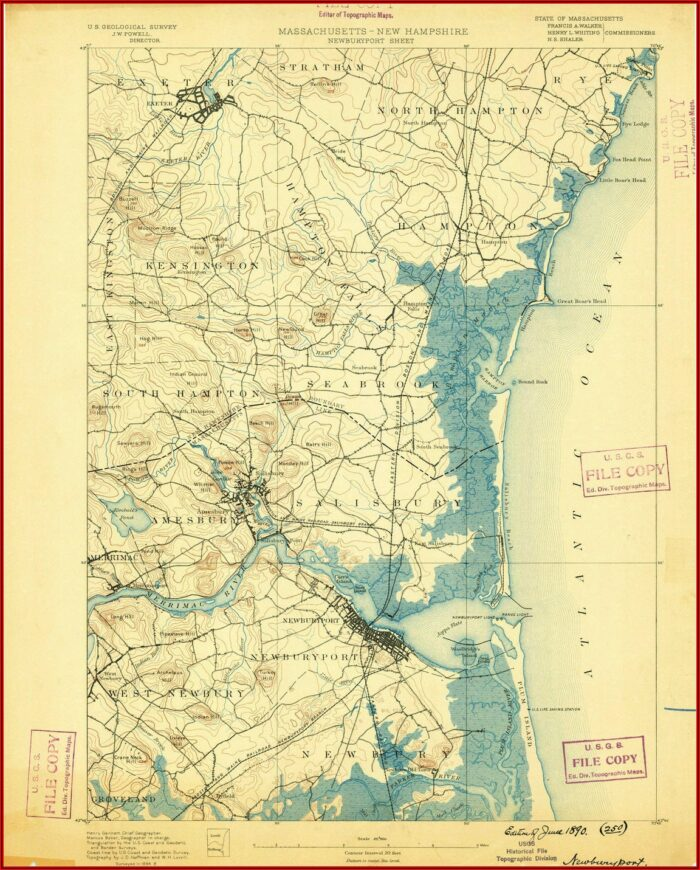 Vintage Topographic Maps For Sale