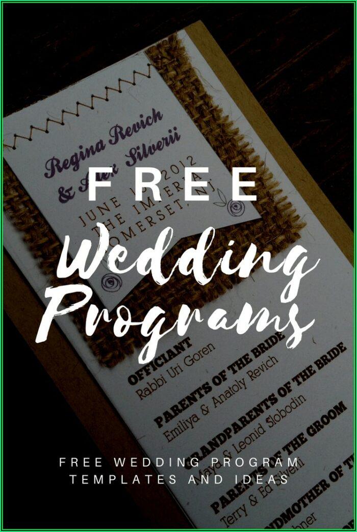 Wedding Mass Booklet Templates Free