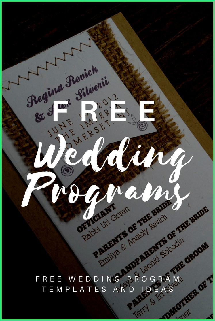 Wedding Mass Booklet Templates Free