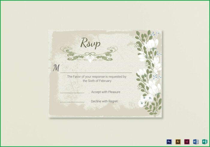 Wedding Rsvp Card Template Word