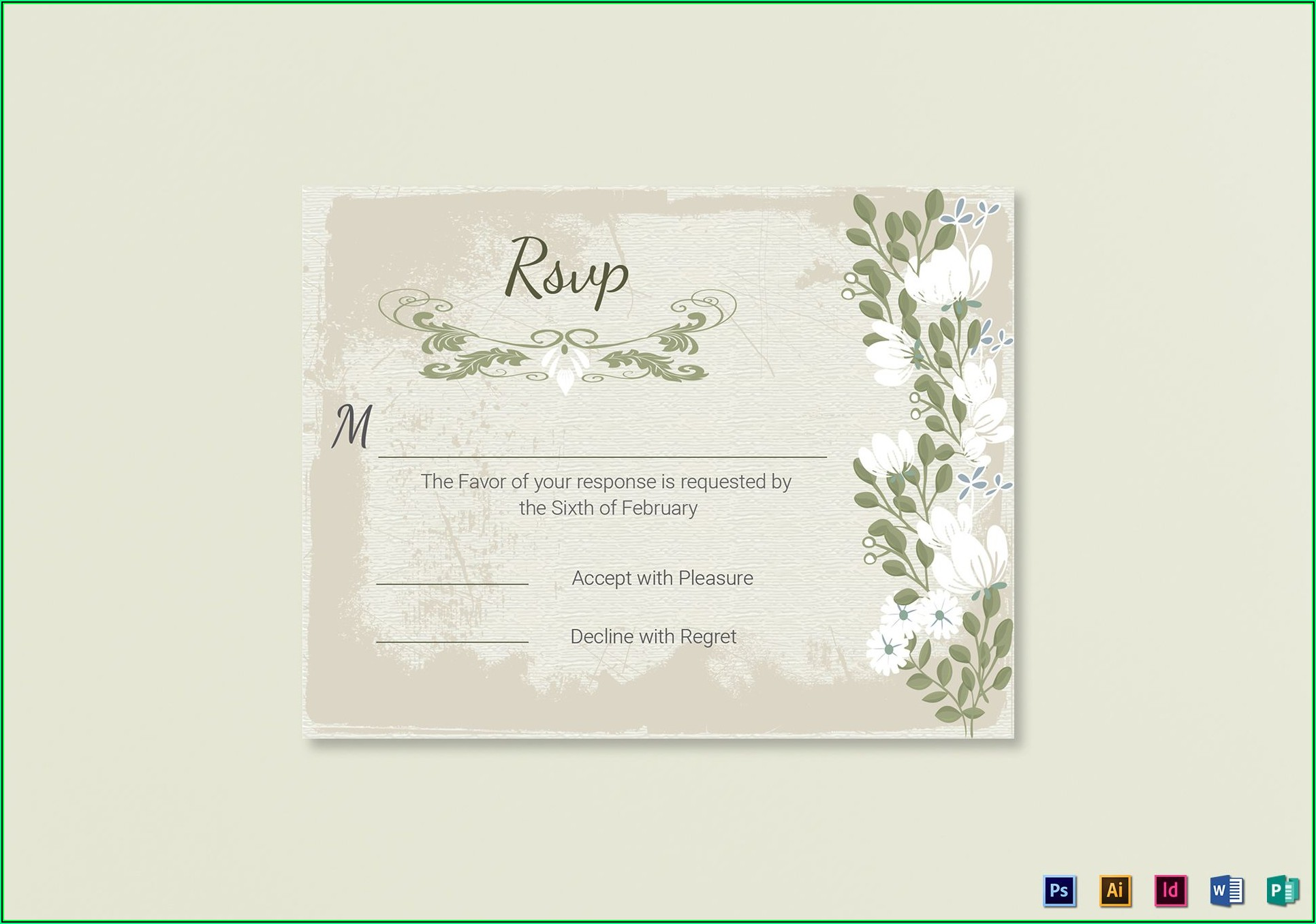 Wedding Rsvp Card Template Word