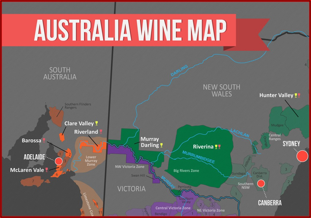 Wine Region Map Australia