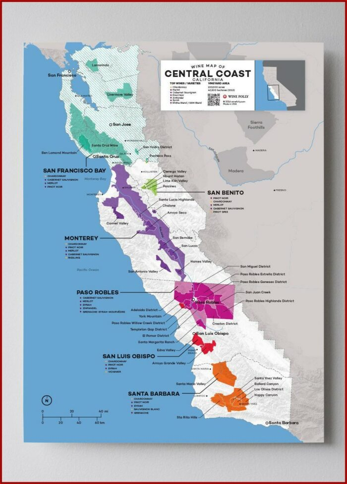 Wine Region Map California