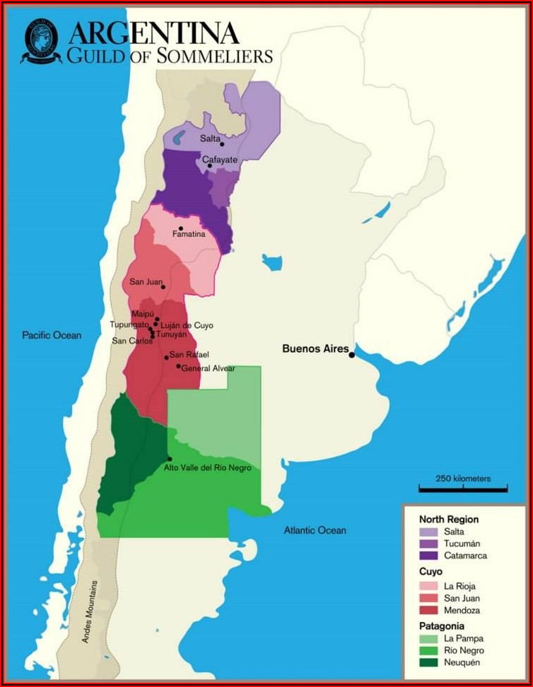 Wine Region Map Of Argentina