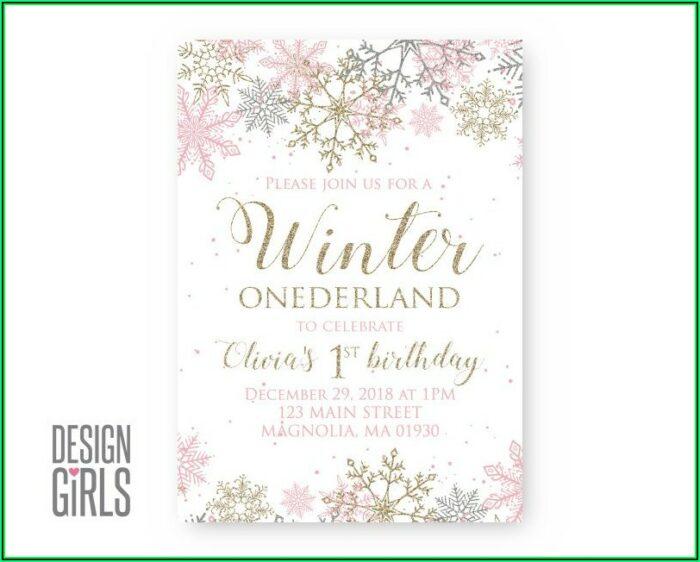 Winter Onederland Invitation Templates
