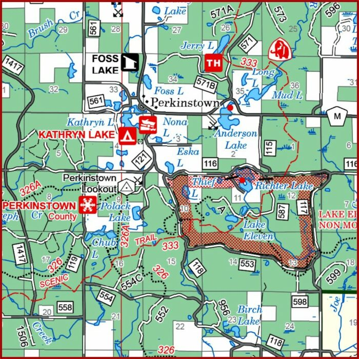 Wisconsin National Forest Campgrounds Map